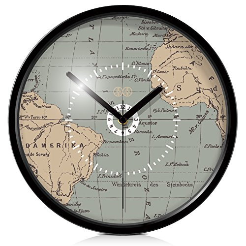 Y hui mr lee art wall clock world map drawing mute wall table clock y hui mr lee art wall clock world map drawing mute wall table clock table 10 inch black metal box buy online in oman products in oman see prices gumiabroncs Gallery