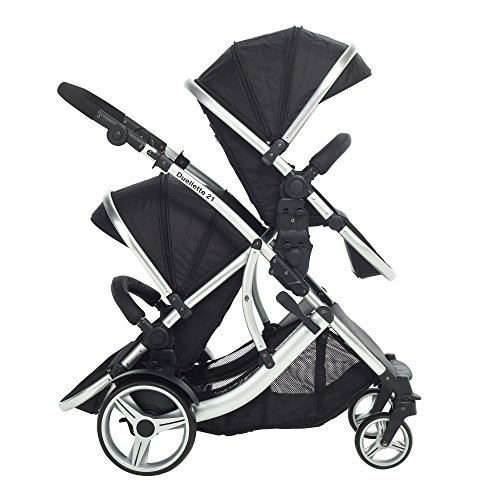 DUELLETTE 21 BS Twin Double Pushchair Tandem Stroller Buggy 2 Seat Units Compatible With Kidz Kargo Safety Pod Car OR Maxi Cosi Clips Or Britax Baby