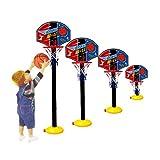 FongFong Kinder Mini Basketballkorb Hoop Set Höhenverstellbar Fürs Zimmer Indoor Und Outdoor Fun Ball Spielzeug Basketball-Backboard Ständer Hoop Set für Kinder 115cm