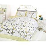 Image of Copripiumino matrimoniale e 2 federe per letto, in policotone, colore: giallo