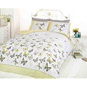 """Image of """"Copripiumino matrimoniale e 2 federe per letto, in policotone, colore: giallo"""