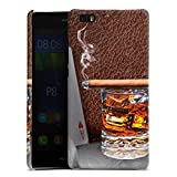 DeinDesign Huawei P8 lite (2015-2016) Hülle Premium Case Cover Zigarre Whiskey Whisky
