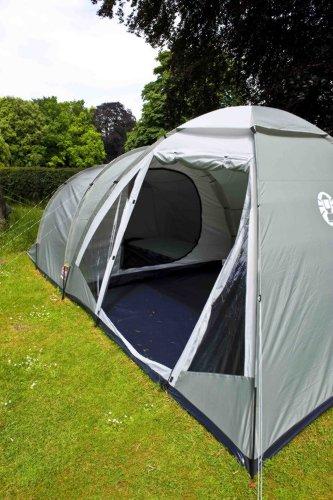 51dKqc6DIjL - Coleman Waterfall 5 Deluxe Tent - Green, 5 Person