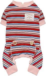 kyeese Dog Pajamas Striped Lightweight Dog Pjs Jammies Stretchable Doggie Onesies