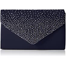 SwankySwansAbby Diamante Envelope Style Bag - Sacchetto