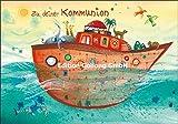 Glückwunschkarte zur Kommunion ~ Tiere auf der Arche