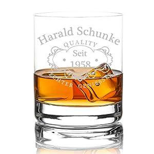 polar-effekt XXL Whiskyglas Personalisiert 420 ml Trink-Glas für Whiskey, Rum und Scotch - Geschenk-Idee für Männer - Motiv-Gravur Quality Whisky