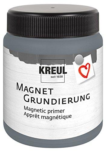 Kreul 76155 - Magnetgrundierung, Acrylgrundierung zur Gestaltung von Haftflächen für Magnete, cremig pastose Farbe auf Wasserbasis, 250 ml Dose für ca. 0,5 qm