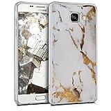 kwmobile Samsung Galaxy A5 (2016) Hülle - Handyhülle für Samsung Galaxy A5 (2016) - Handy Case in Weiß Gold