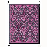 H-Collection-Bocamp Chill-Matte Picknickdecke Zeltteppich Markisen-Teppich Bodenmatte Vorzelt-Teppich Outddorteppich Campingteppich Wohnwagen Vorzeltboden Zeltboden (200x270cm, Pink)