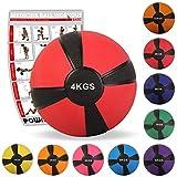 Balón medicinal deportivo 1 kg, 2 kg, 3 kg, 4 kg, 5 kg, 6 kg, 7 kg, 8 kg, 9 kg, 10...