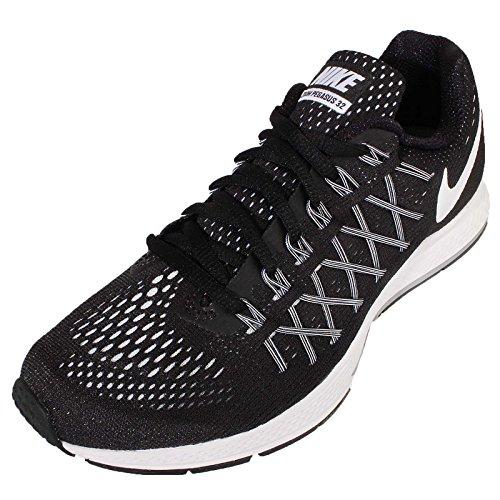 Nike Wmns Air Zoom Pegasus 32, Chaussures de Sport Femme Negro (Black / White-Pure Platinum)