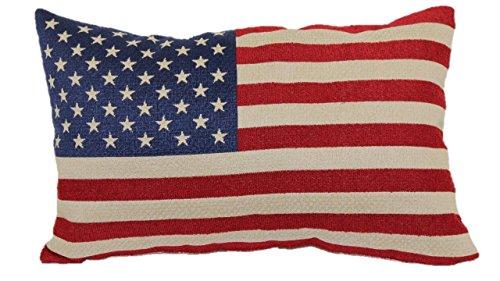 funny cat Amerikanische Flagge Tapisserie Wurfkissen, Zoll, 45x45cm