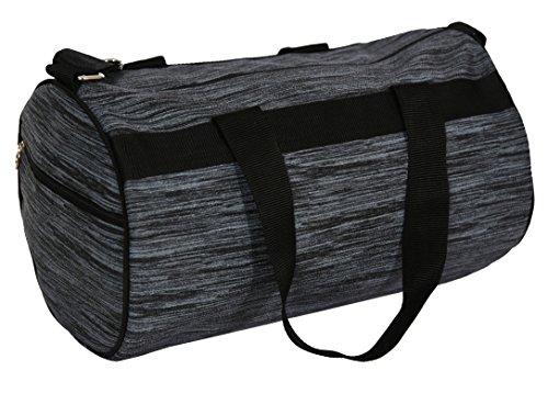 Balachia Faux Leather Gym Travel Duffel Bag (Grey)