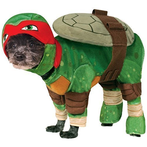 Fancy Me Haustier Hund Katze Teenage Mutant Ninja Turtles Halloween Film Cartoon Kostüm Kleid Outfit Kleidung Kleidung - Rot (Raphael), ()
