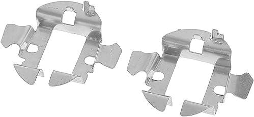 Anbau A Pair Car HID Xenon H7 Bulbs Base Retainer Clips Aluminium Metal Holder Adapter for Audi BMW