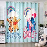 llkjd Cartone Animato Tende oscuranti Winnie The Pooh Tigger Ragazzi e Ragazze Panno per camerette per Bambini - W66 * L90