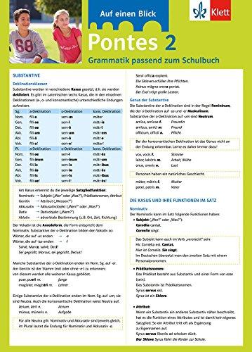 Pontes 2 - Auf einen Blick: Grammatik passend zum Schulbuch - Klappkarte (6 Seiten) (Pontes Trainingsbuch)