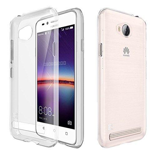 Huawei Y3 2 Custodia. Kingshark ultra caso della copertura della cassa [sottile sottile] gomma flessibile del gel di TPU molle del silicone pelle protettiva per HuaWei Y3 2 Trasparente