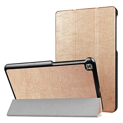 LG G Pad IV 8.0/G Pad X28.0FHD Fall, ratesell Slim Fit Haltbar Premium Leder Folio Schutzhülle für LG G Pad IV 8.0/V533(Kanada), GPAD X28.0Plus (T-Mobile) Tablet, Gold