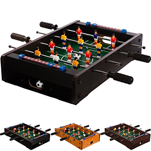 Maxstore Mini Kicker 3 Dekorvarianten Tischfußball Maße: 51x31x8 cm Gewicht: 2,6 kg, 4 Spielstangen Tischkicker inkl. 2 Bälle