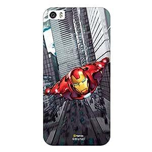 Hamee Original Marvel Character Licensed Designer Cover Slim Fit Plastic Hard Back Case for iPhone 7 ( Iron Man Illustration2 )