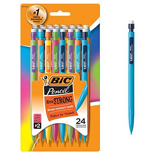 BIC Xtra Strong Mechanical Pencils 24/Pkg-Assorted Barrels - 24k Fass