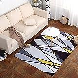 GRENSS Stempel Geometrie Tide Marke Teppichboden Wohnzimmer Couchtisch Maschine Teppiche Waschen Full-Bett schweben in der Fenster- und, 80 * 160 cm, JH001