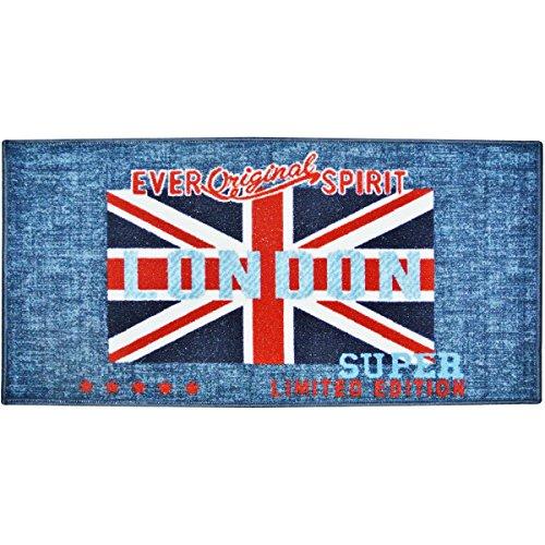 Londres - Tapis Descente De Lit Déco Londres Salle De Bain Cuisine Drapeau Royaume Uni London Spirit 57x115cm