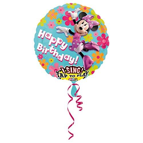nballon Sing-A-Tune Minnie Maus-Happy Birthday, Siehe Abbildung, Einheitsgröße ()