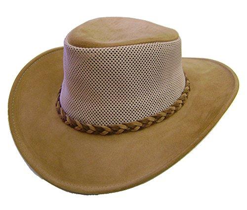 Modestone Unisex Crushable Henschel Suede/Mesh Cowboy-Hut Brown Scala Suede Cap