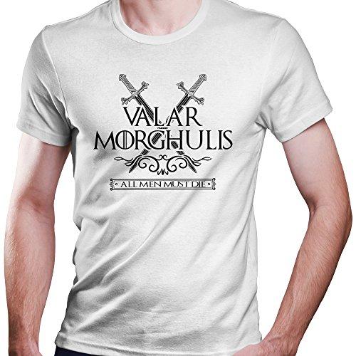 Game of Thrones Valar Morghulis All Men Must Die T-Shirt Größe XS-4XL Weiß