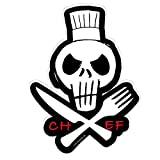 Koch Chef Schädel Skull Küche Kochen Aufkleber Autoaufkleber Sticker Decal