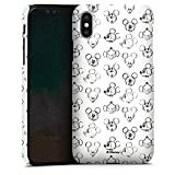 Apple iPhone X Hülle Premium Case Cover Disney Mickey Mouse Vintage
