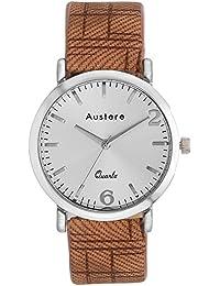 Austere Men Oxford Analog Silver Dial Men's Watch - MOX-0109
