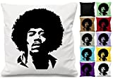 Jimi Hendrix Musik Silhouette Scatter Kissen werfen Kissenbezug bedruckt Geschenk (nur Bezug) rot