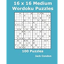 16 x16 Medium Wordoku Puzzles: 100 Puzzles