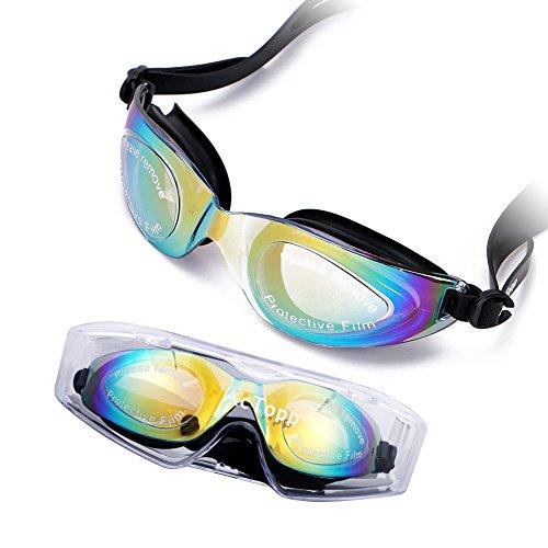 AcTopp Gafas de Natación Profesional Hermético Ajustable con Lentes