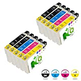 Druckerpatrone T0711 Kompatibel mit Epson D92 D120 DX4000 DX4050 DX4400 DX4450 DX5000 DX5050 DX6000 DX7400 DX7450 DX8400 DX8450 S20 SX100 SX205 SX218 SX400 SX405 SX410 SX510 BX300 BX610 Patronen kompatibel zu T0711 T0712 T0713 T0714 (4 Schwarz,2 Cyan,2 Magenta,2 Gelb)-NQ_spirit