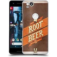 Head Case Designs Root Beer Barattoli Vintage Cover Retro Rigida per Google Pixel 2