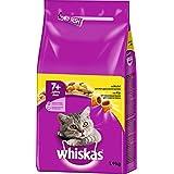 Whiskas 7+ Senior Katzenfutter Huhn, 2er Pack (2 x 1.9 kg)