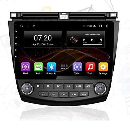 2.5D IPS Android 8.1 Octa Core Car DVD Radio GPS Navigation for Honda Accord 7 2003-2007 Stereo Audio Navi Video with Bluetooth Calling WiFi Touch Screen (Android 8.1 4/64G for Accord 7 03-07) (Honda Accord Stereo-2003)