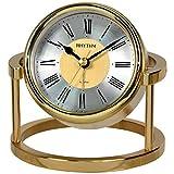 Ritmo Orologio da tavolo sveglia metallo ottone massiccio analogico oro–7958