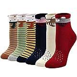 LOFIR Dicke Kinder Socken aus Baumwoll Winter Warme Thermo Socken für kleine Mädchen Jungen Kleinkind Neuheit Socken Größe 20-34, für 2-11 Jahre, 6 Paare