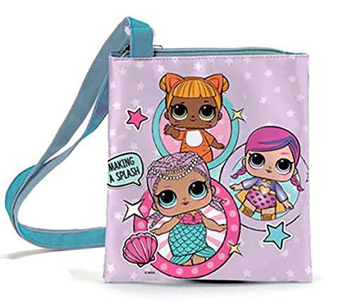 Lol surprise set regalo borsa con spazzola ed elastico capelli