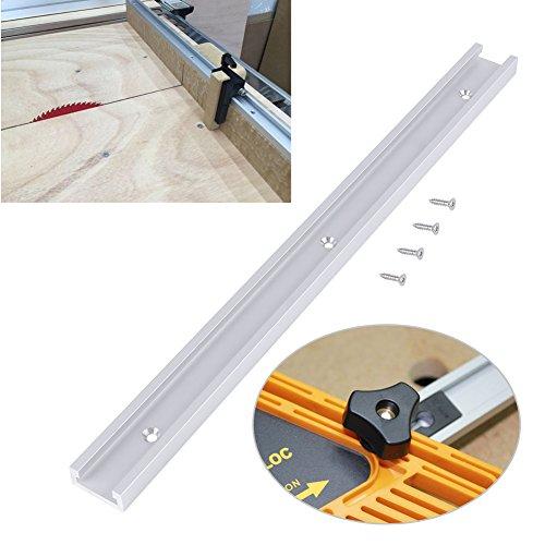 400 mm T-Schiene, Aluminiumlegierung T-Schiene T-Nut-Schiene mit selbstklebenden Schrauben für die Holzbearbeitung
