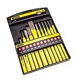 Stanley Meissel-, Körner- & Durchschläger-Set, 12-teilig, Chrom-Vanadium Stahl, 1.5/2/3/4/5/6/8/10/12/16mm, 4-18-299