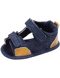 Zapatos Bebe Niño, ❤️ Amlaiworld Zapatos Bebe Verano Recién Nacido Niño Sandalias Primeros Pasos Zapatos de Lona (Azul, Tamaño:12-18Mes)