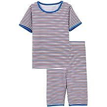 YuanDiann Ragazzi Bambini Pigiama 2 Pezzi Set Cotone Manica Corta Magliette T-Shirt Top e Pantaloni da Notte per Bambino Intime Abbigliamento da Notte Pigiameria Pigiami