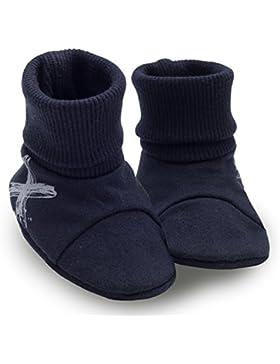 Pinokio -Xavier- Baby Schuhe - Dunkelblau/Schwarz oder Türkis - Neugeboren Puschen - Erstausstattung - Krabbelschuhe...